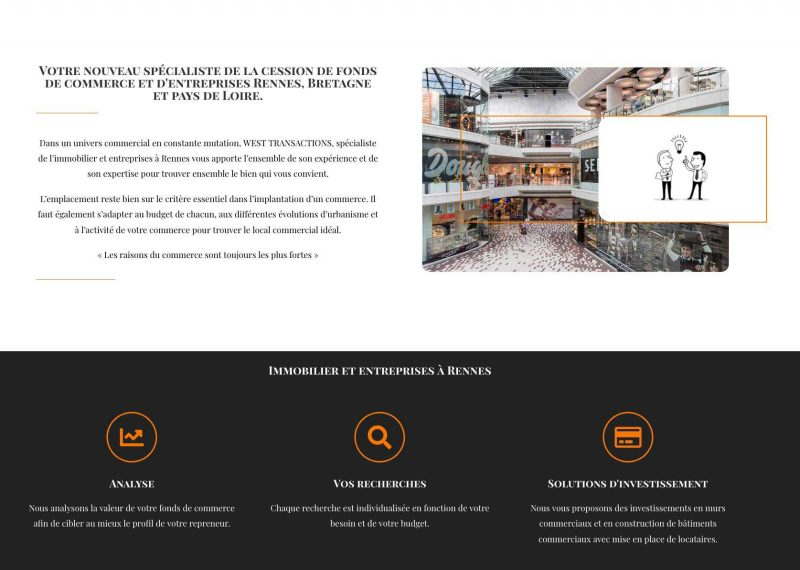 site vitrine immobilier Rennes 35